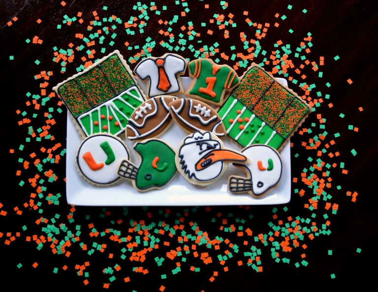 University of Miami Sugar Cookies