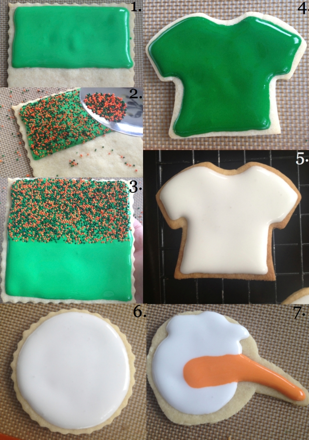 First Layer Icing U Cookies