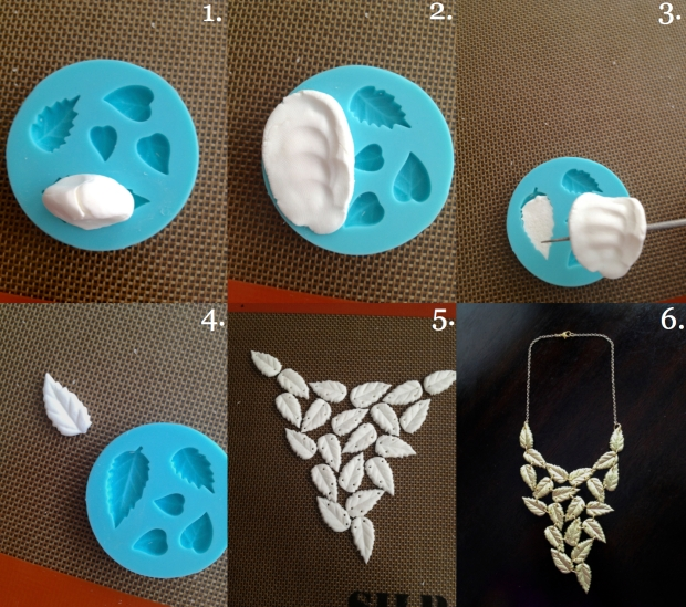 leaf statement necklace how to