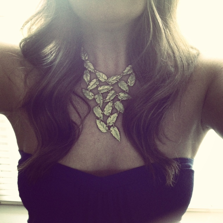 Leaf Statement Necklace on