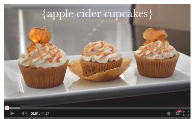 Apple Cider Cupcake Vid