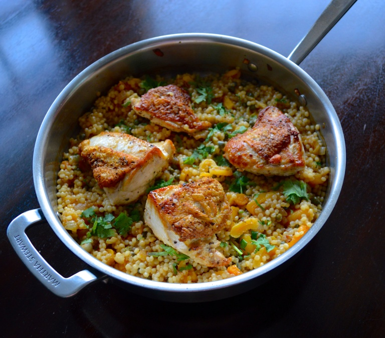 Skillet Chicken with Apricots and Capers