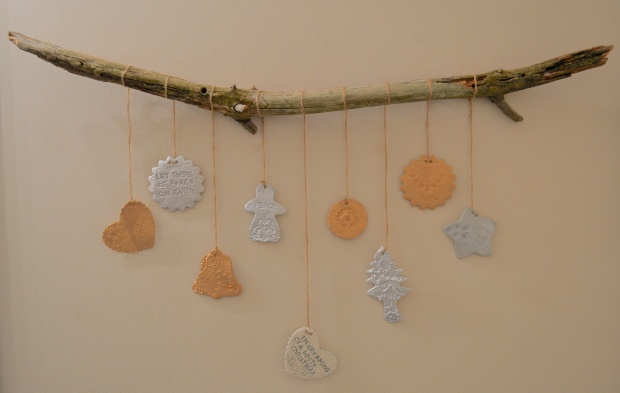 Clay Imprinted Ornaments Hanging