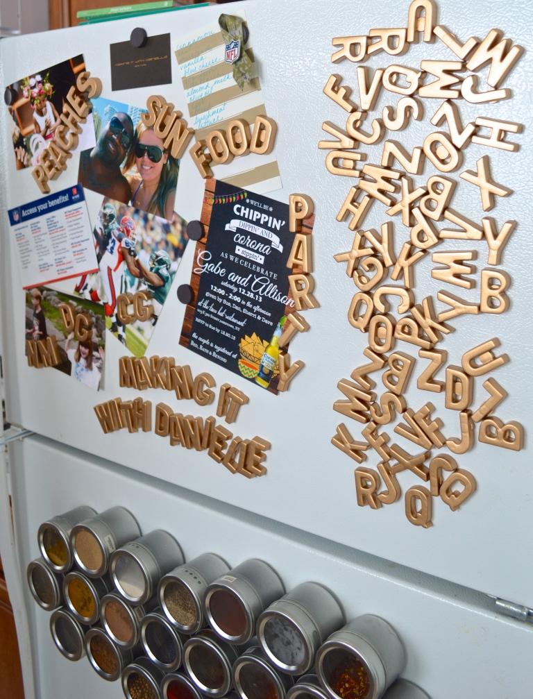 Magnets on fridge