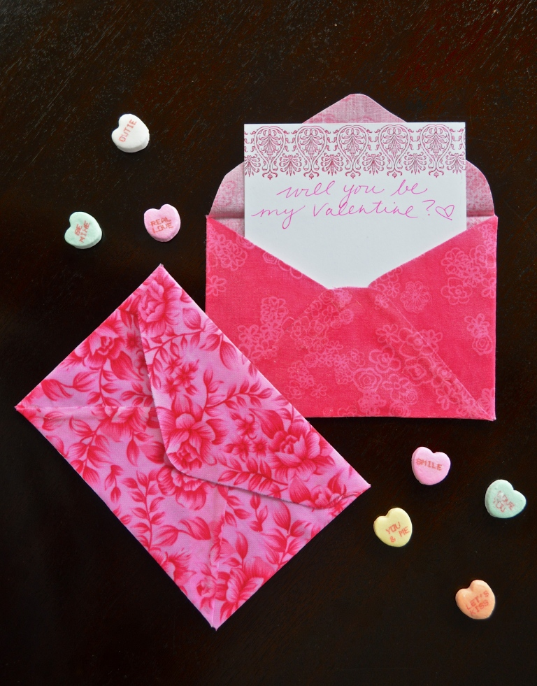 Fabric Valentine's Day Envelopes
