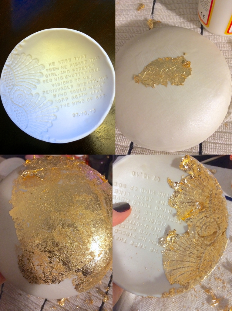 Gold Leafing Jewelry Dish