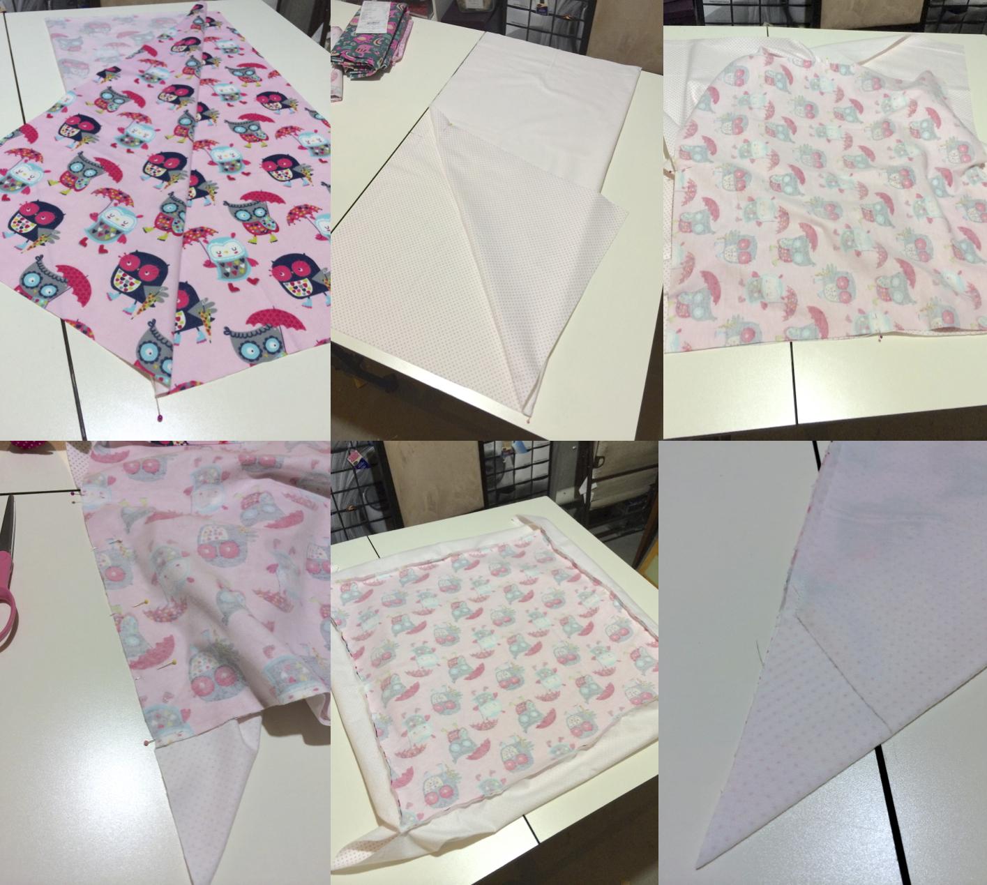 Self-Binding Receiving Blankets