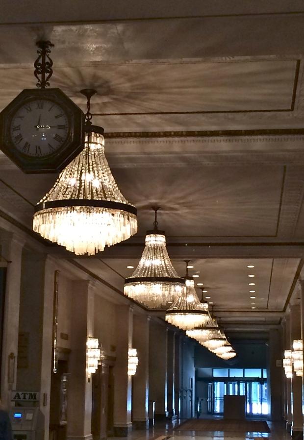 Hallway of Chandeliers