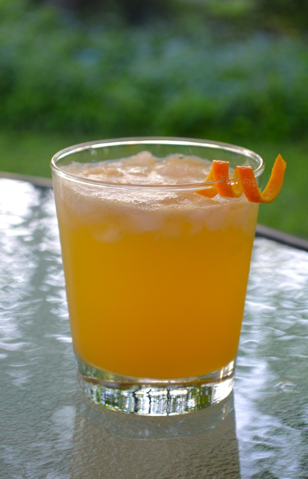 rosemary orange gin fizz