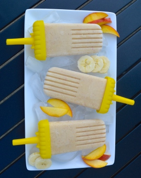 Peach Banana Smoothie Popsicles