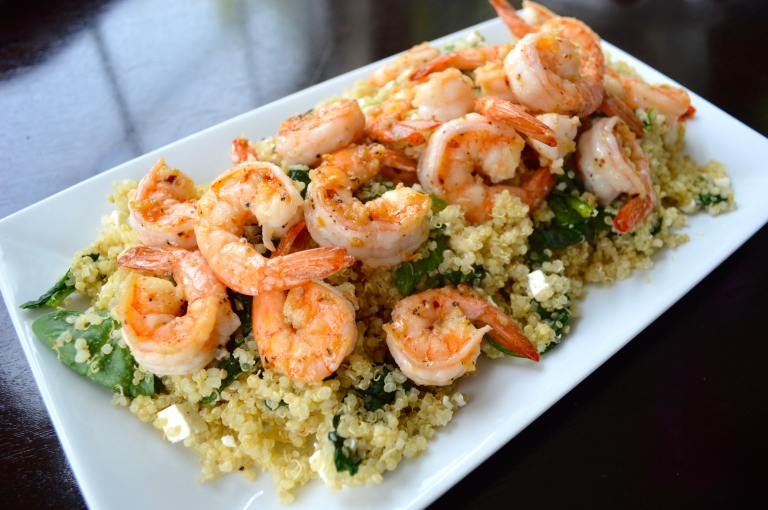 Greek Quinoa Salad with Shrimp