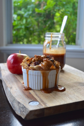 apple cranberry bread pudding