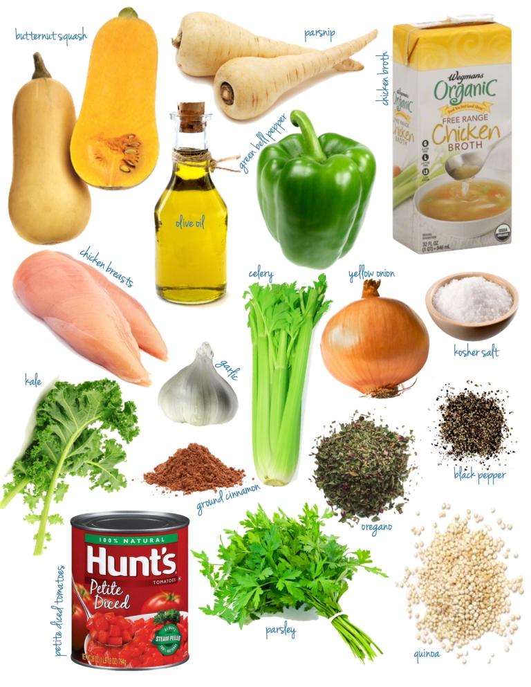 squash quinoa + kale stew