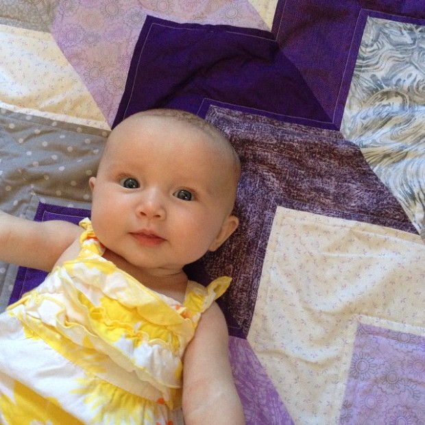 baby quilt cover photo