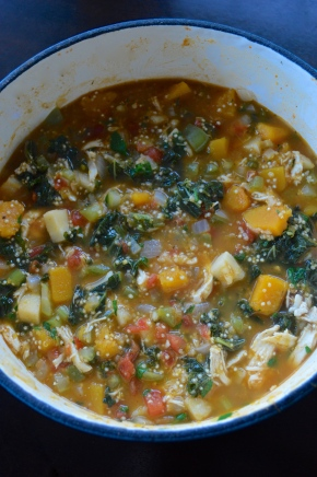 squash, kale and quinoa stew