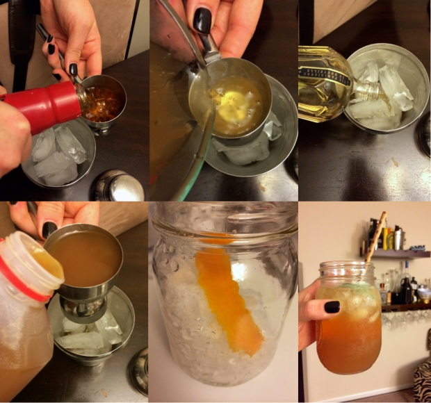 Making Fall Bourbon Coktail