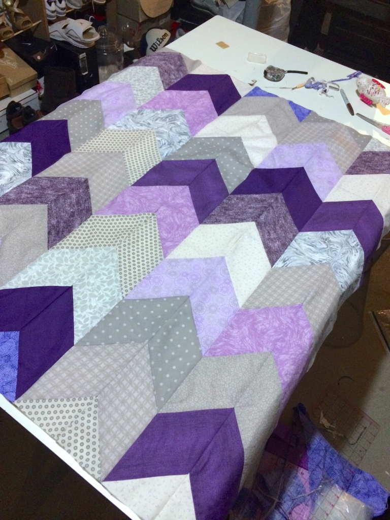 Top of Quilt Sewn Together