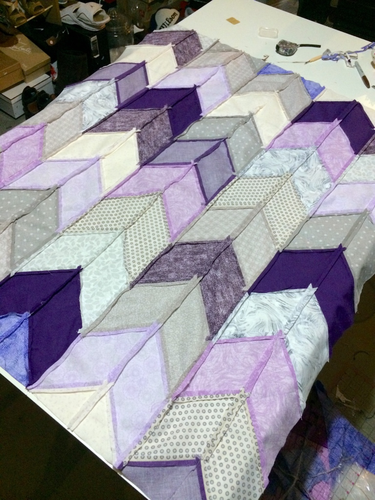 Underside of Top of Quilt