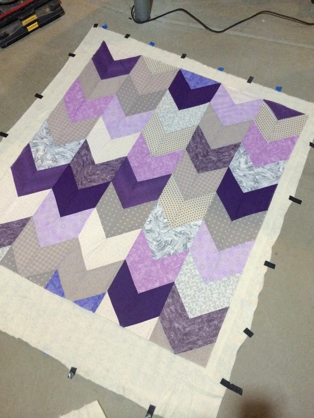Ready to Bind Quilt