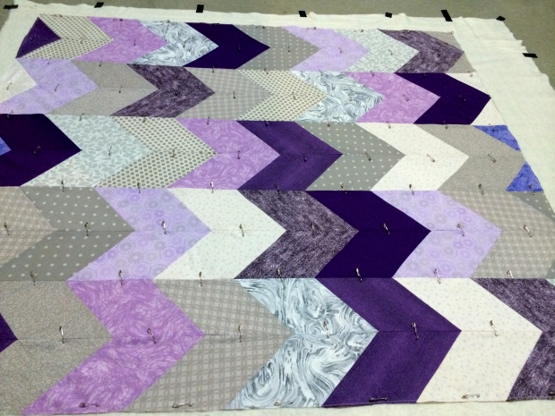 Pinning Quilt Layers