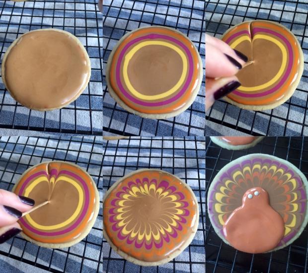 Turkey Cookie Step by Step