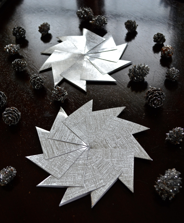 Paper Starburst Ornaments