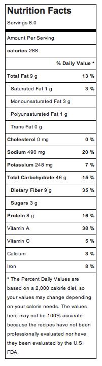 Barley Casserole Nutrition