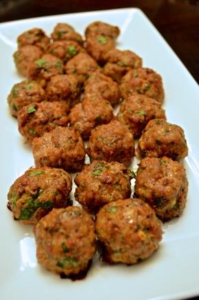 Paleo Mini Pork Meatballs