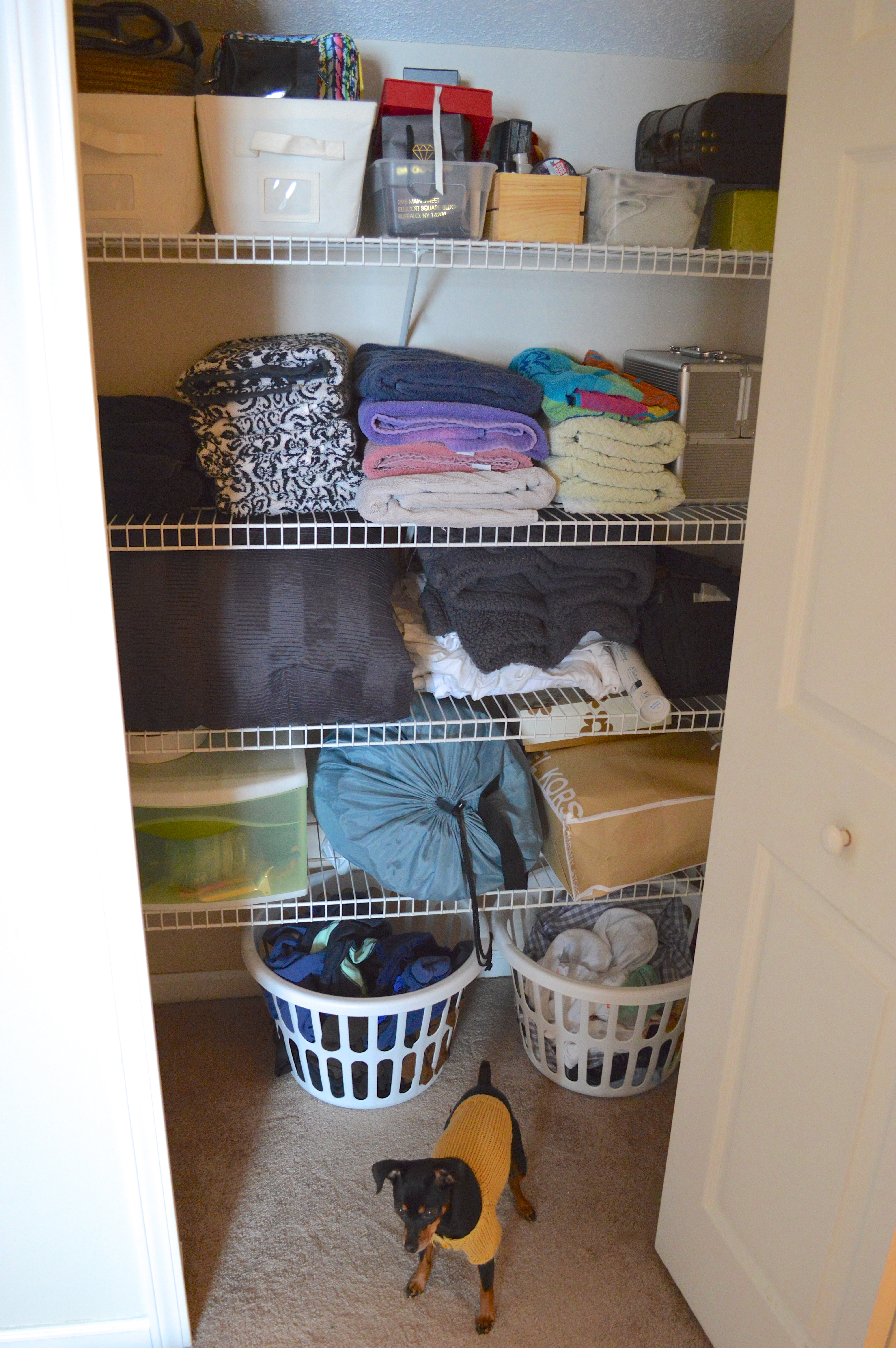 starting 2015 with a clean slate linen closet