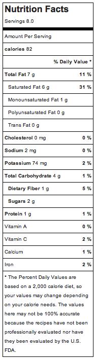 Choc Pom Cup Nutrition