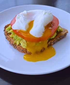 Poached Egg on Flax Toast