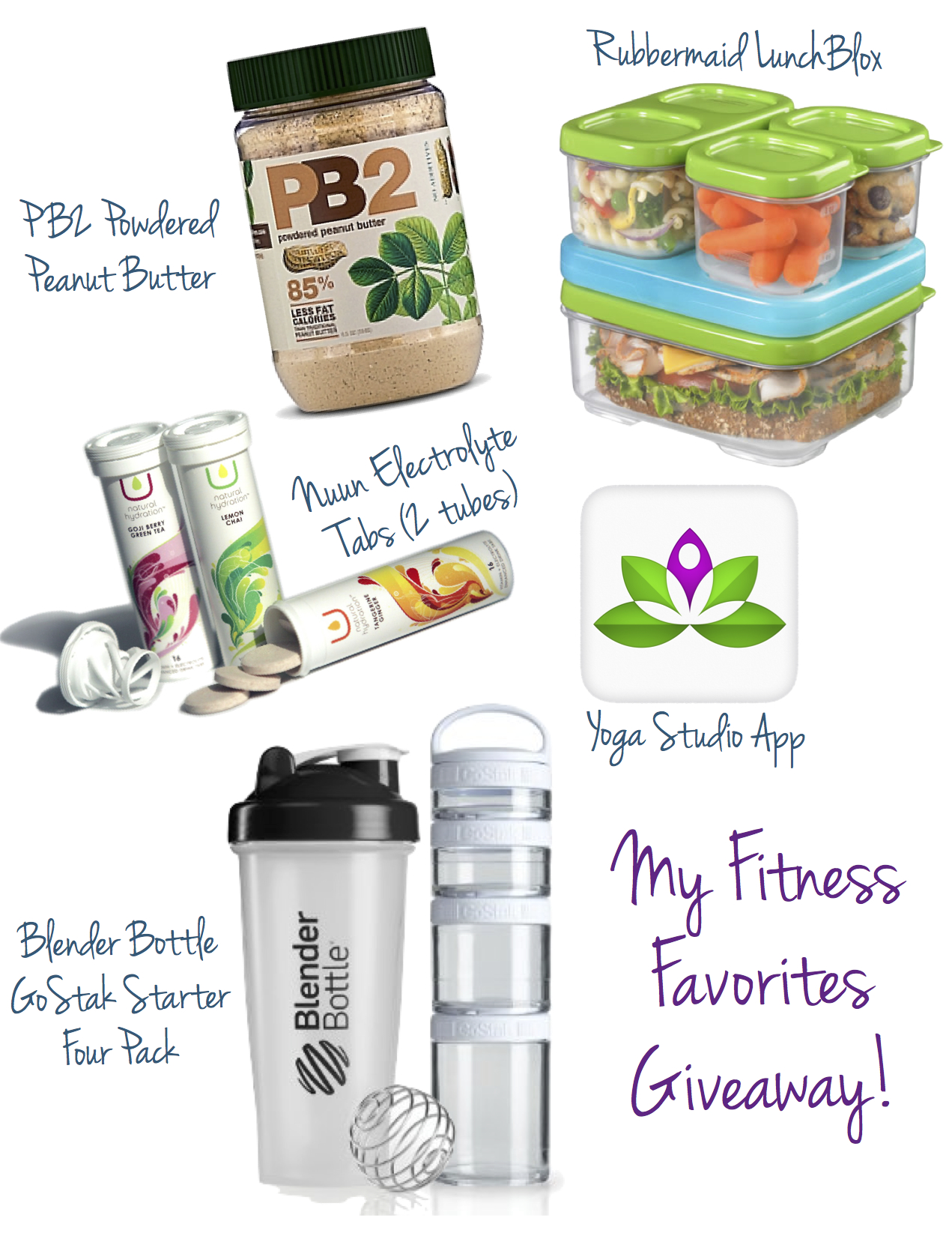 my fitness faves giveaway