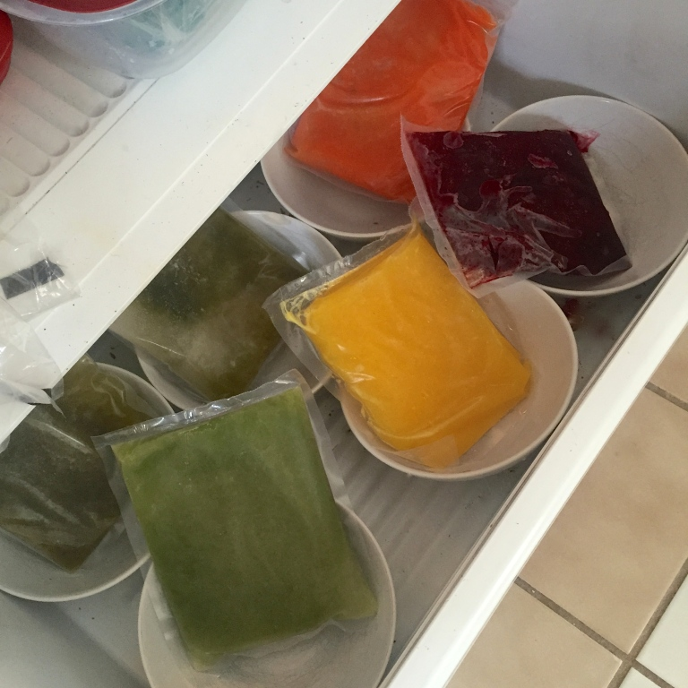 Juices Defrosting in Freezer