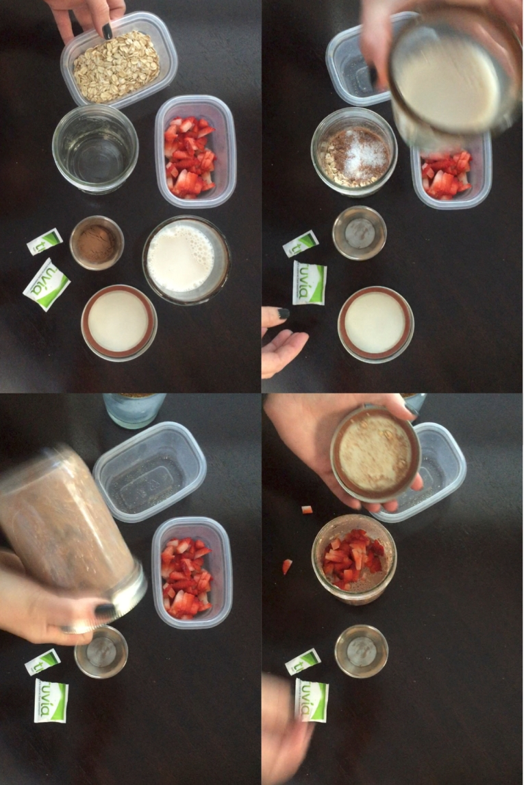 Choc Straw Overnight Oats