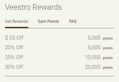 Veestro Rewards