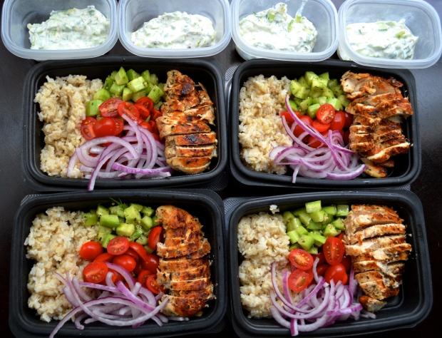 Meal Prep Greek Bowls