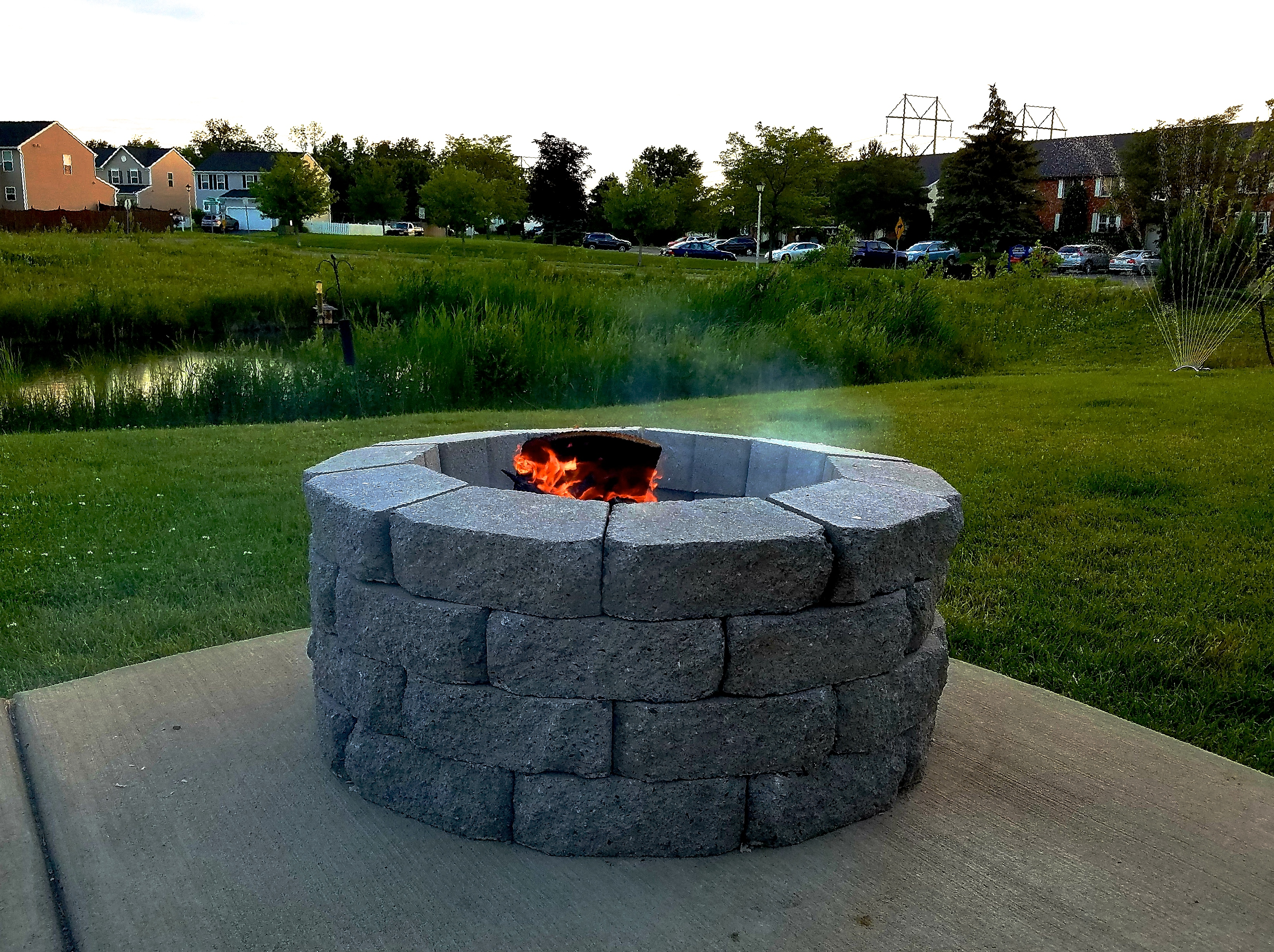 Diy Firepit Part - 20: I Wanted To Share This DIY Today Because Itu0027s SO Easy That You Could Grab  What You Need For It Today And Be Enjoying Your Very Own Fire Pit In Time  For ...